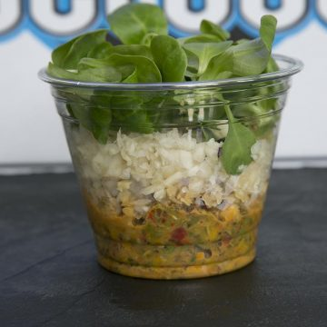 Salade poivronnade et chou blanc